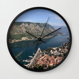 Kotor bay Wall Clock