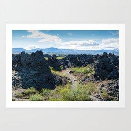Dimmuborgir lava field, Myvatn area - Iceland Art Print