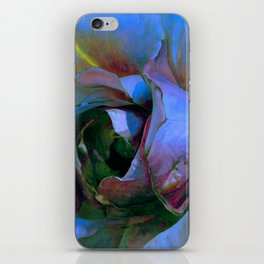 Floribunda Rose - Cool Blue Green iPhone Skin