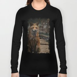 Misty Night Fox Long Sleeve T-shirt