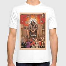 Big Lebowski Mens Fitted Tee SMALL White