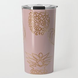 Gold Tropical Travel Mug