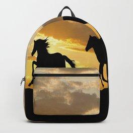 RUNNING HORSES SILHOUETTE Backpack