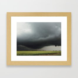 Funnel Cloud Framed Art Print