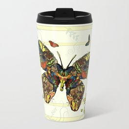 Colorful Butterfly Collage Travel Mug