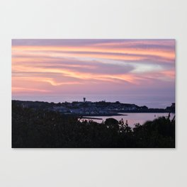 Pink sky on the sea Canvas Print