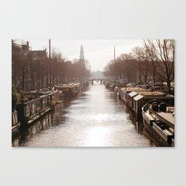 AMSTERDAM / Winter Light on the Prinsengracht Canvas Print