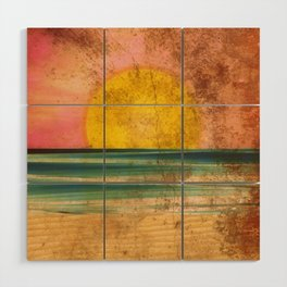 Ocean Sunset Vintage 2.0 Wood Wall Art
