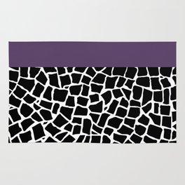 British Mosaic Purple Boarder Rug