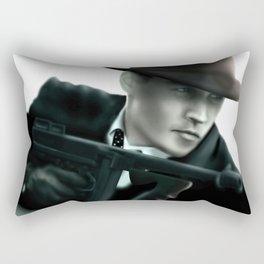 Johnny Depp// John Dillinger Rectangular Pillow