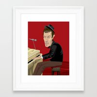tom waits Framed Art Prints featuring Tom Waits by Oliver Lake