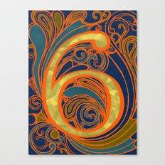 Nouveau Six Canvas Print