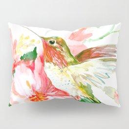 Hummingbird, Hawaiian Design, Hibiscus and Hummingbird Pillow Sham