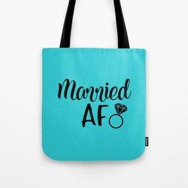 Married AF - Turquoise Tote Bag