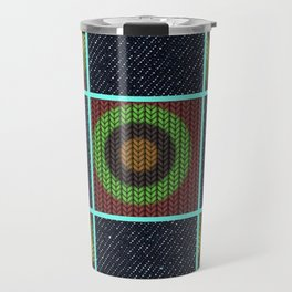 Earthy Denim Print Travel Mug