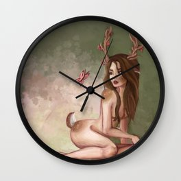 Forest Doe Wall Clock
