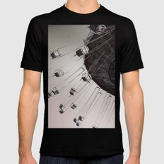 Coming Back Around MEDIUM Black Mens Fitted Tee