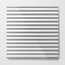 STRIPES DESIGN (GREY-WHITE) Metal Print