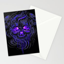 Purple Nurpel Skeletons Stationery Cards