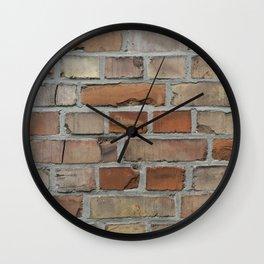 Vintage red brick wall texture Wall Clock
