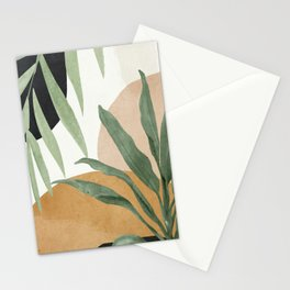 Abstract Art Tropical Leaves 4 Stationery Cards