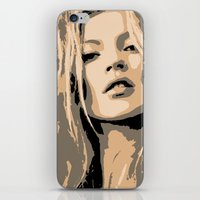 kate moss iPhone & iPod Skins featuring KATE MOSS by Christophe Chiozzi