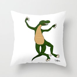 The usual dino Throw Pillow