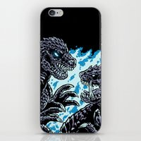 kaiju iPhone & iPod Skins featuring Kaiju Collide by Austin James