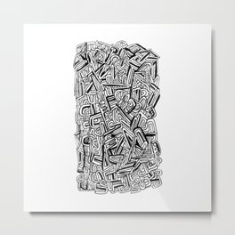 ALPHABETSOUP Metal Print