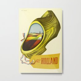 see Holland Vintage Travel Poster Metal Print