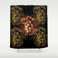 simba Shower Curtains featuring lion king by osvaldo