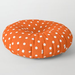 Orange Pop and White Polka Dots Floor Pillow