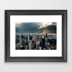 Great Skies over Manhattan Framed Art Print