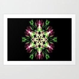 Watermelon Snowflake Art Print