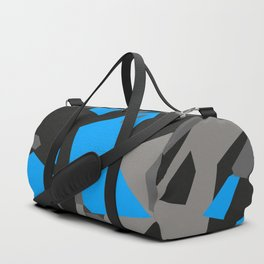 Black\Grey\Blue Geometric Camo Duffle Bag