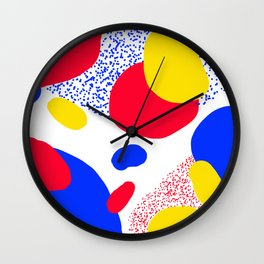 Primary Dots Wall Clock