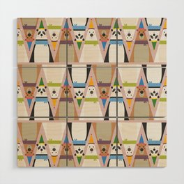 A Sleuth of Bears (Patterns Please) Wood Wall Art
