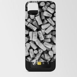 Something Nostalgic II Twist-off Wine Corks in Black And White #decor #society6 #buyart iPhone Card Case