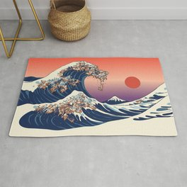The Great Wave of Dachshunds Rug