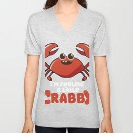 Hermit Crab graphic   Crustacean print Unisex V-Neck