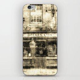 The Golden Lion Pub York Vintage iPhone Skin