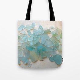 Ocean Hue Sea Glass Tote Bag