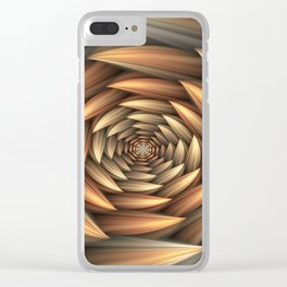 Fractal Buds Tunnel Clear iPhone Case