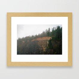 Windblown Waterfall // Oregon Framed Art Print