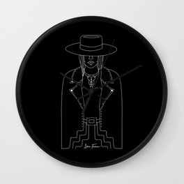 Lady Outlaw Wall Clock