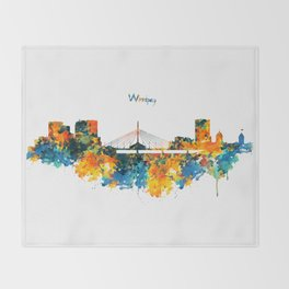 Winnipeg Skyline Throw Blanket