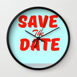 Save the Date vintage american Diner Wall Clock