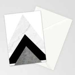 Arrows Monochrome Collage Stationery Cards