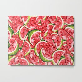 Watermelons Forever Metal Print