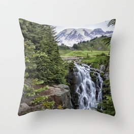 Myrtle Falls Throw Pillow